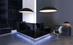 Empfangstheke London schwarz mit LED