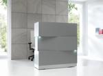 Empfangstheke Cube Korpus Silber grau