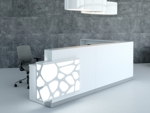 empfangstheke style weiss l form mit led beleuchtung