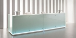 empfangstheke toronto aus glas mit led beleuchtung