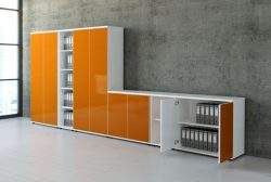 highboards hochglanz orange